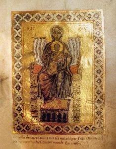XI-wieczczna prawosławna ikona przedstawiająca Całą Nieskazitelną