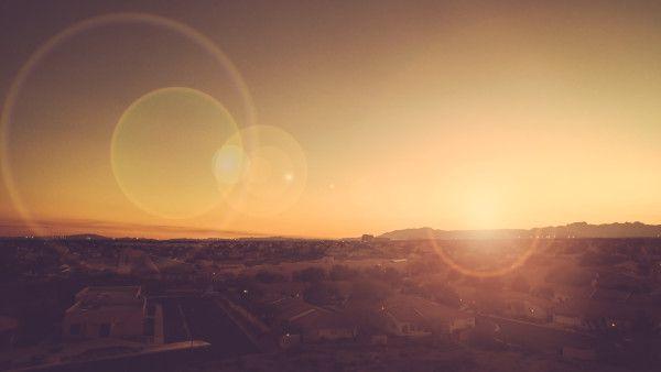 city-sunset-sunrise-lens-flare