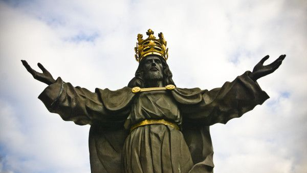 Jesus the king of world in Jasna Gora in Czestochowa, Poland