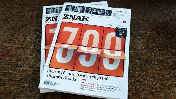 """700 numer miesięcznika """"Znak"""""""