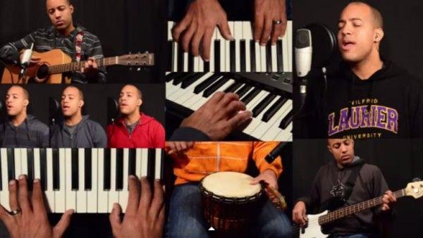 Człowiek-orkiestra wielbi Boga. Co za wykonanie! (wideo)