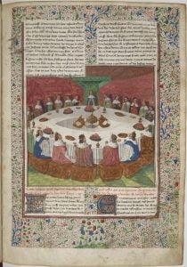 Ilustracja zrękopisu Lancelota zjeziora, autorstwa Waltera Map