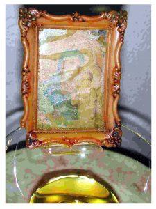 Olej wydobywający się zobrazu Matki Boskiej zSoufanieh, fot.E melaney