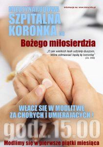 Międzynarodowa Szpitalna Koronka doBożego Miłosierdzia