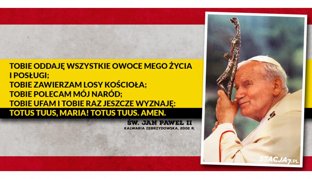Modlitwa zawierzenia Jana Pawła II. Kalwaria Zebrzydowska, 19.08.2002