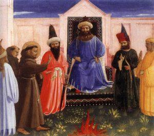 Próba Ognia, fragment Objawienia św.Franciszka wArles