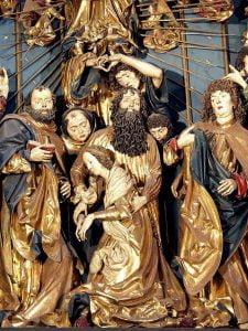 Zaśnięcie Marii Panny - ołtarz Wita Stwosza wKościele Mariackim wKrakowie