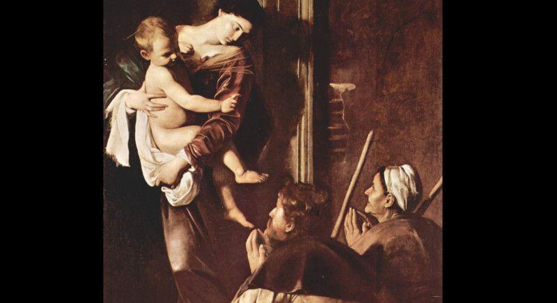 Madonna dei Pellegrini, Caravaggio, 1603-1605r., Bazylika Sant'Agostino w Rzymie
