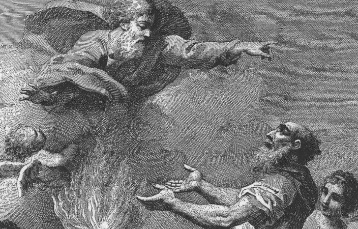 Mojżesz-i-Starsi widzą Boga, Jacopo Amigoni, XVIII w.