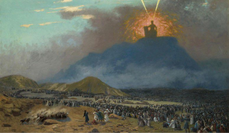 Mojżesz na Górze Synaj,  Jean-Léon Gérôme, 1824–1904 r.