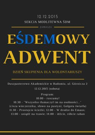 Diecezjalny Dzień Skupienia - plakat