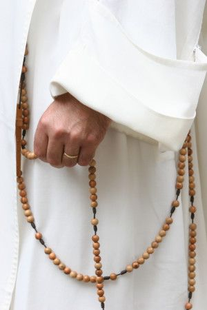 Dominican Monk with Rosary