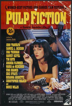 """Plakat promujący film """"Pulp Fiction"""", reż. Quentin Tarantino, 1994r."""