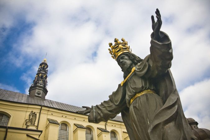 Jesus the king of world in Jasna Gora in Czestochowa, Poland