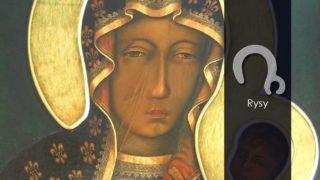 Skąd rysy napoliczku Matki Bożej?