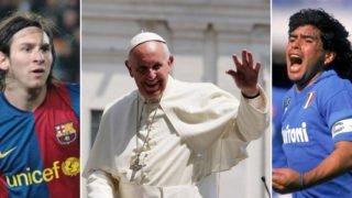Papież wyprzedził Messiego iMaradonę