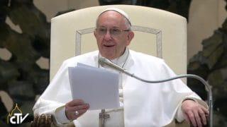 Papież spotkał się naaudiencji zdziećmi