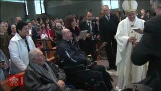Papież Franciszek poraz 17 wrzymskiej parafii