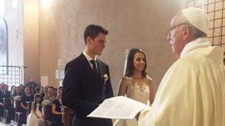 Franciszek naślubie gwardzisty szwajcarskiego