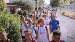 Młodzi Włosi ruszyli napiesze pielgrzymki doRzymu