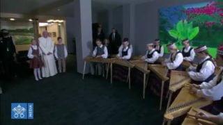 Łotwa przywitała papieża