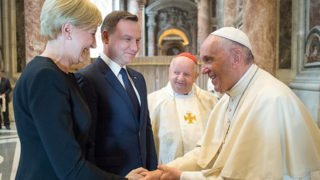 Papież Franciszek przyjmie prezydenta Dudę zmałżonką