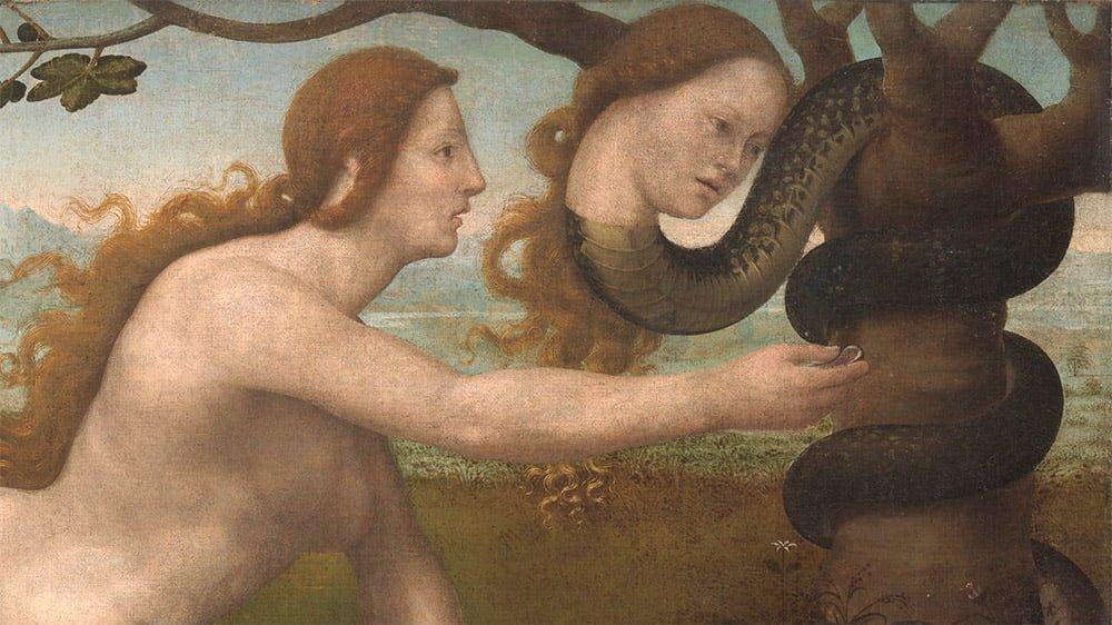 Giuliano di Bugiardini, Adam; Ewa, fragment obrazu