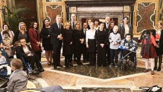 Franciszek przyjął dziś dzieci zPolski chore naraka