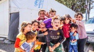 Ludzie zobozu dla uchodźców