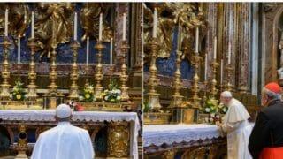 Franciszek uMatki Bożej przedwylotem doPanamy