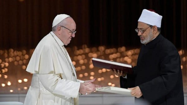Papież iimam Al-Azharu otrzymali Nagrodę Braterstwa Między Ludźmi