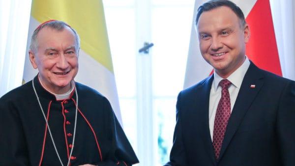 Prezydent Andrzej Duda spotkał się zkard. Pietro Parolinem