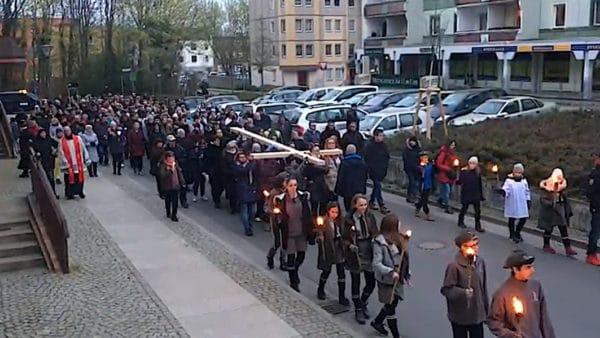Ekumeniczna Droga Krzyżowa zFrankfurtu nadOdrą doSłubic
