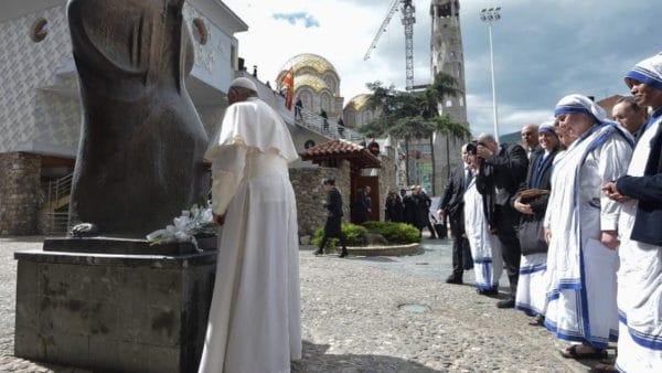 Modlitwa Franciszka wDomu Matki Teresy