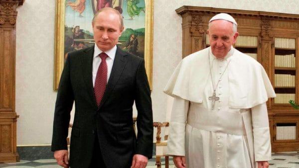 Oczym rozmawiali papież Franciszek iWładimir Putin